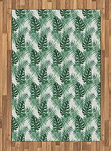 ABAKUHAUS Blatt Teppich, Palm Mango Bananenbaum,