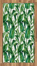 ABAKUHAUS Blatt Teppich, Watercolored Bananenbaum,
