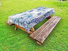 ABAKUHAUS Blau Outdoor-Tischdecke,