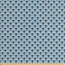 ABAKUHAUS Blau Stoff als Meterware, Chinesische