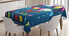ABAKUHAUS Blau Tischdecke, Ballons Feier, Für den