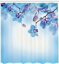 ABAKUHAUS Blume Duschvorhang, Orchideen asiatische