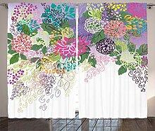 ABAKUHAUS Blume Rustikaler Vorhang, Vintage Boho