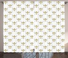 ABAKUHAUS Blume Rustikaler Vorhang, Vintage-Stil