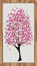 ABAKUHAUS Blume Teppich, Kirschblüte mit Blumen,