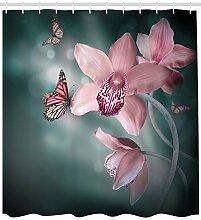 ABAKUHAUS Blumen Duschvorhang,