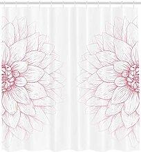 ABAKUHAUS Blumen Duschvorhang, Rosa Blütenblume,
