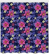 ABAKUHAUS Blumen Duschvorhang, Tropicana Orchideen