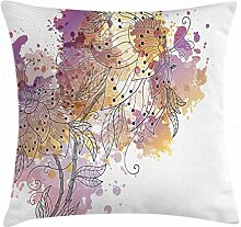 ABAKUHAUS Blumen Kissenbezug, Blühende Orchideen,