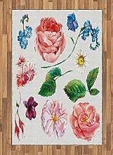 ABAKUHAUS Blumen Teppich, Blumenstrauß mit Rose,