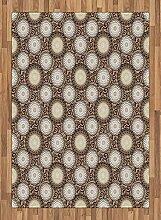ABAKUHAUS Blumen Teppich, Dahlie mit großen