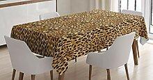 ABAKUHAUS Braun Tischdecke, Afrikanischer Leopard