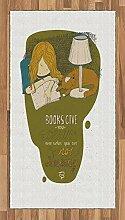 Abakuhaus Buch Teppich, Mädchen und Katze