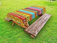 ABAKUHAUS Bunt Outdoor-Tischdecke, Streifen mit