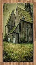 ABAKUHAUS Bunt Teppich, American Farmer Scheune,
