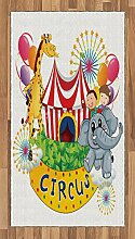 Abakuhaus Bunt Teppich, Zirkusshow mit Kindern,