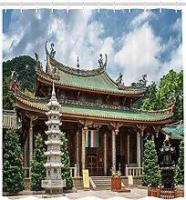 Abakuhaus China Duschvorhang, Putuo Tempel Foto,