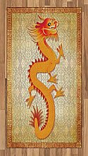 ABAKUHAUS Drachen Teppich, Chinese Folk-Elemente,