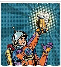 Abakuhaus Duschvorhang, Astronaut Welcher im