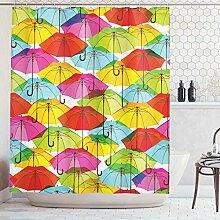 ABAKUHAUS Duschvorhang, Farbige Regenschirme Bunt