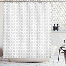 ABAKUHAUS Duschvorhang, Grau und Weiße Silberne