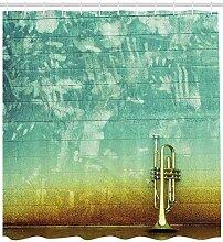 ABAKUHAUS Duschvorhang, Musik Saxofone Abgestellt