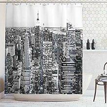 ABAKUHAUS Duschvorhang, Panorama von Manhattan