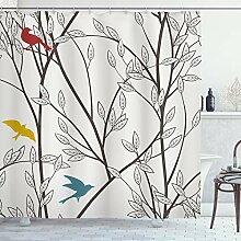 ABAKUHAUS Duschvorhang, Vögel Wildtiere Cartoon