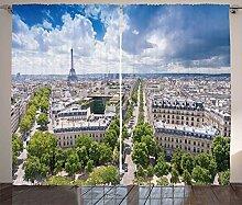 ABAKUHAUS Eiffelturm Rustikaler Vorhang,