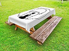 ABAKUHAUS Englisch Sheepdog Outdoor-Tischdecke,