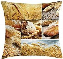 ABAKUHAUS Ernte Kissenbezug, Brot Machen Weizen,
