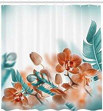 Abakuhaus Exotisch Duschvorhang, Orchideen blüht