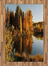 ABAKUHAUS Fallen Teppich, Lake Woodland bei