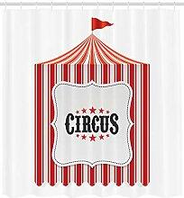 Abakuhaus Festlich Duschvorhang, Zirkuszelt
