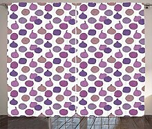 ABAKUHAUS Früchte Rustikaler Vorhang, Lila-Töne