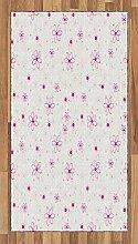 ABAKUHAUS Frühling Teppich, Muster mit Blumen,