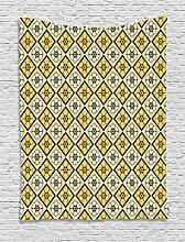ABAKUHAUS Frühling Wandteppich, Gelbe Fliese