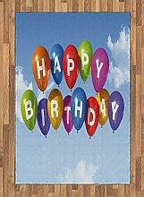 ABAKUHAUS Geburtstag Teppich, Ballons Buchstaben