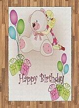 Abakuhaus Geburtstagsparty Teppich, Mädchen