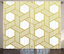 ABAKUHAUS Geometrisch Rustikaler Vorhang,