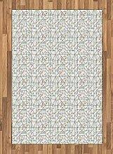 ABAKUHAUS Geometrisch Teppich, Formen mit Tupfen,
