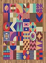 ABAKUHAUS Geometrisch Teppich,