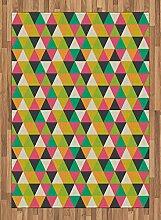 ABAKUHAUS Geometrisch Teppich, Retro