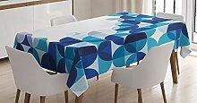 ABAKUHAUS Geometrisch Tischdecke, Moderne weiße