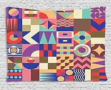 ABAKUHAUS Geometrisch Wandteppich,