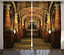 ABAKUHAUS gotisch Rustikaler Vorhang, Geheimgang