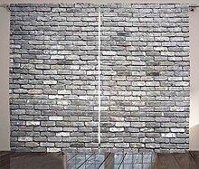 ABAKUHAUS Grau Rustikaler Vorhang, Gealterte raue