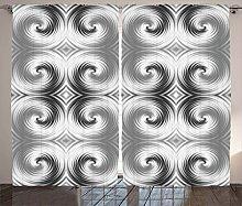 ABAKUHAUS Grau Rustikaler Vorhang, Halluzinierende