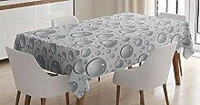 ABAKUHAUS Grau Tischdecke, Wassertropfen