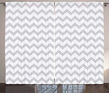 ABAKUHAUS Grau und Weiß Rustikaler Vorhang,